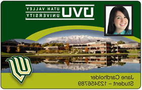 Example of student ID card