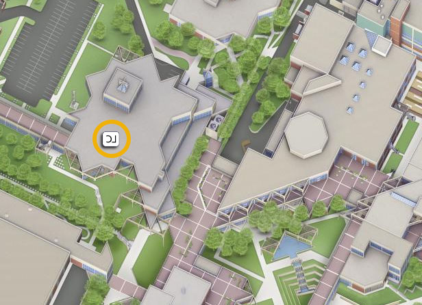 UVU Map showing 日e LC building