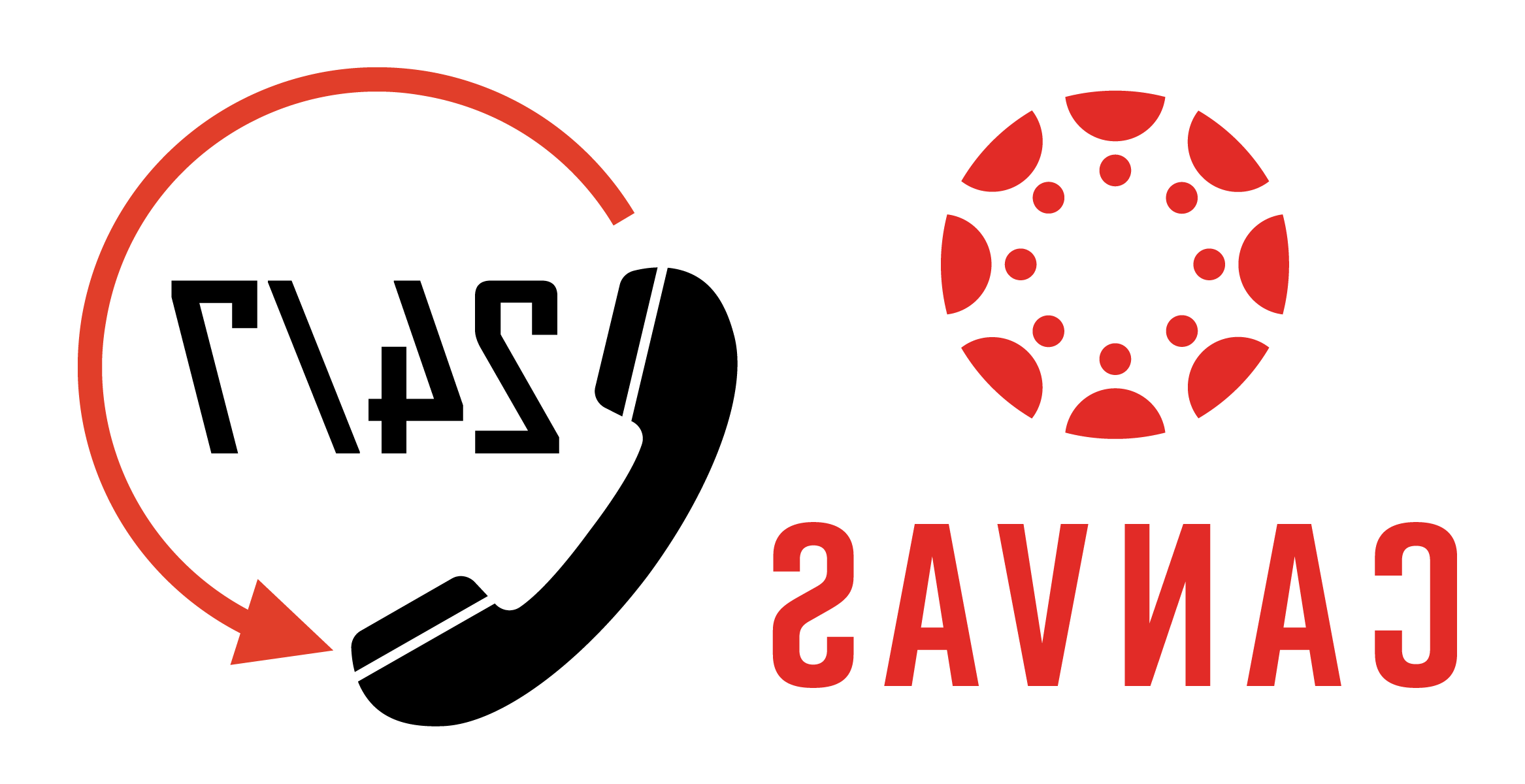 帆布 logo and 24/7 with phone