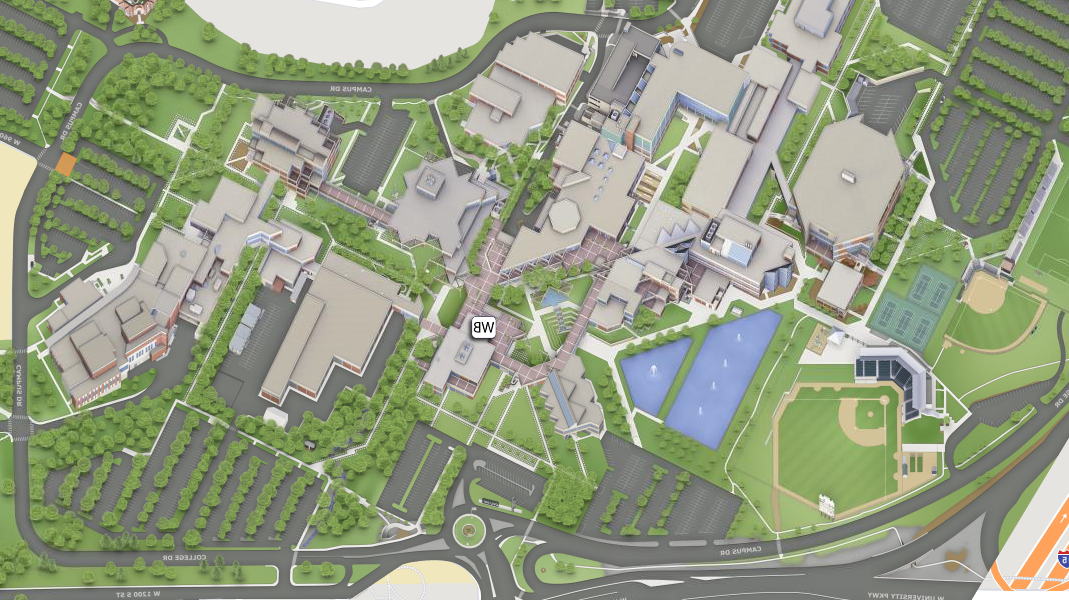 map of the woodbury school of business